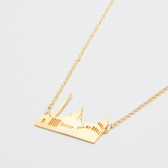 Skyline Collection Rome Pendant Necklace with Lobster Clasp Closure