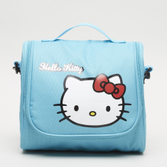 HK Turquoise Printed Lunch Bag with Zip Closure