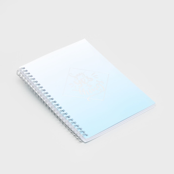 Slogan Print Soft Cover Notebook with Art Paper