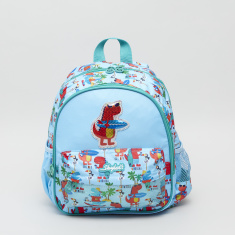 Spyker Printed Backpack with Zip Closure - 26x13x33 cms