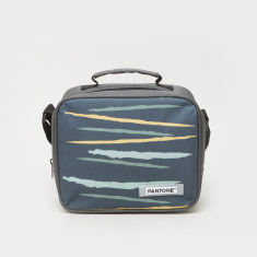 Pantone Abstract Print Lunch Bag with Zip Closure