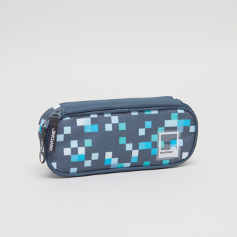 Pantone Pixel Printed Pouch with Zip Closure
