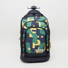 Pantone Graffiti Printed Trolley Backpack - 45x33x17 cms