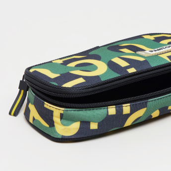 Pantone Graffiti Printed Square Pouch with Zip Closure