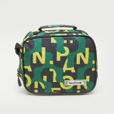 Pantone Graffiti Print Lunch Bag with Adjustable Strap