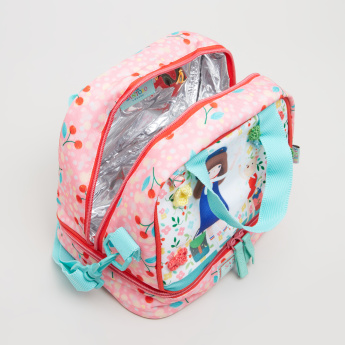 Santoro Printed Lunch Bag with Applique and Sling Strap