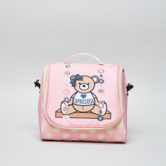 Capricciosa Teddy Bear Printed Lunch Bag with Zip Closure