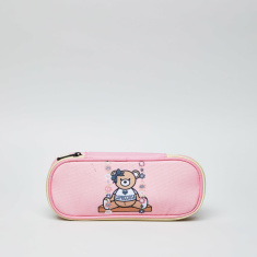 Capricciosa Teddy Bear Printed Pencil Case with Zip Closure