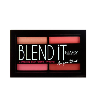 Glam's Makeup Blend It Contouring Draping  Blush Palette