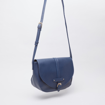 Caprese Melanie Satchel Crossbody Bag with Button Closure