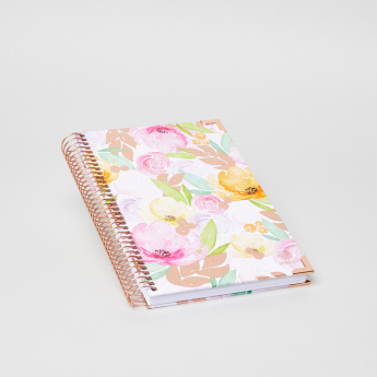 Bloom Daily Planners Watercolour Floral Print Spiral Bound Notebook