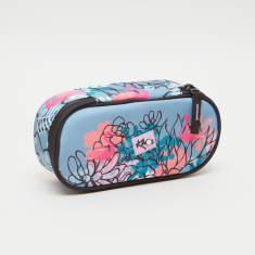 KAOS Flamingo Print Pencil Case