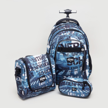 KAOS 3-Piece Trolley Backpack Set - 25x12x22 cms