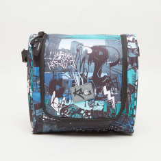 Sin City Print Lunch Bag with Adjustable Sling Strap