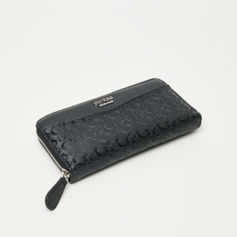 Guess Textured Wallet with Zip Closure