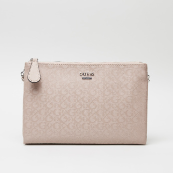 Guess Printed Crossbody Bag with Zip Closure