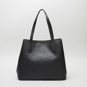 Guess Palmer Trap Tote Bag with Embossed Detail