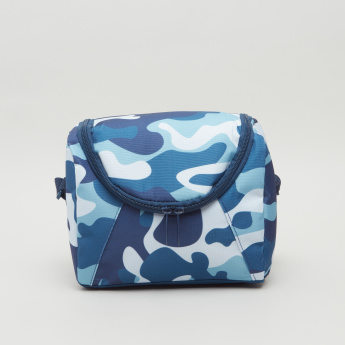 Camouflage Print Lunch Bag with Zip Closure