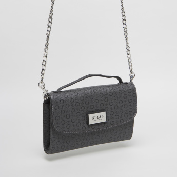 Guess Central Printed Mini Crossbody Bag