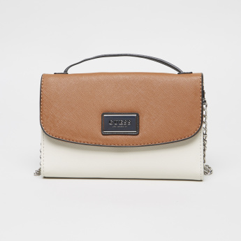 Guess Satchel Crossbody Bag with Snap Button Closure