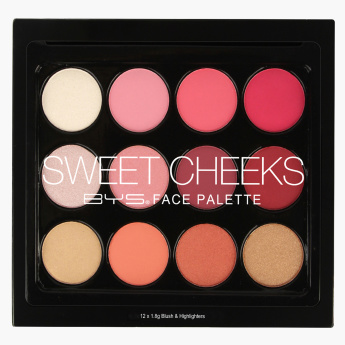 BYS Sweet Cheeks Face Palette - 21.6 gms