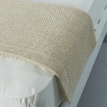 Sylvie Rectangular Knitted Throw - 127x152 cms