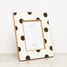 Polka Dot Printed Rectangular Photo Frame - 5x7 inches