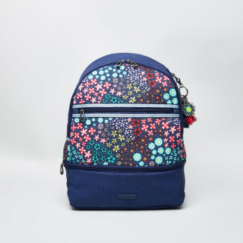 Sakroots Entrada Floral Print Backpack with Adjustable Shoulder Straps - 36x12x42 cms