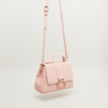 Sasha Satchel Bag with Metal Accent