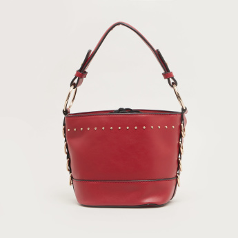 Sasha Studded Bucket Bag with Embellishment