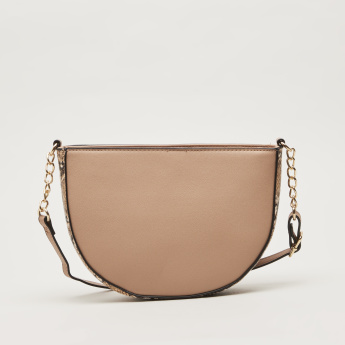 Sasha Half Moon Shaped Crossbody Bag