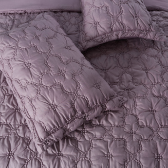 Bella Smocked 3-Piece King Comforter Set - 260x240 cms