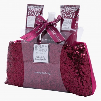 Baylis & Harding Midnight Fig and Pomegranate Clutch Bag Set