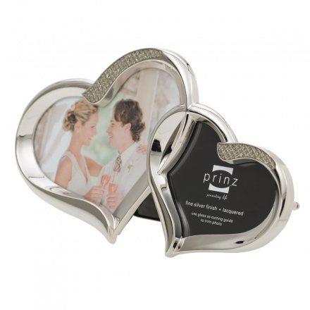 Prinz Two Hearts Silver Metal Photo Frame | Photo Frames | Home ...